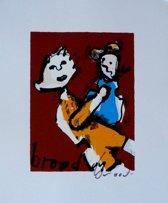 Herman Brood Schilderij Zeefdruk 'Moeder en kind'