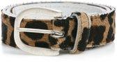 Dames Riem met koeienhuid Panter Mt. 85 (S/M) Art. 35802  Tannery Leather