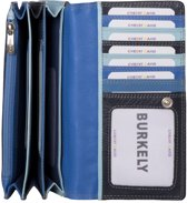 Burkely - Multicolor Dames Portemonnee Harmonica Blauw
