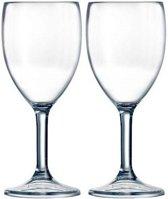 2x Arcoroc Outdoor Perfect wijnglas SAN hard kunststof 300 ml - Onbreekbare camping/picknick glazen