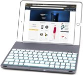 iPad Air 2/Pro 9.7 Toetsenbord hoesje - CaseBoutique Bluetooth Keyboard Case - Space Grey - Aluminium - QWERTY indeling