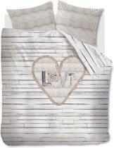 Ariadne at Home Lovewood - dekbedovertrek - eenpersoons - 140x200/220 - Naturel