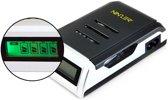 Smart batterij oplader voor AA en AAA oplaadbare batterijen met LCD scherm.