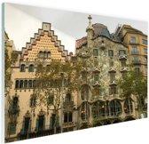 Architectuur van Gaudi Glas 180x120 cm - Foto print op Glas (Plexiglas wanddecoratie) XXL / Groot formaat!
