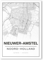 Poster/plattegrond NIEUWERAMSTEL - A4