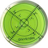 Ronde waterpas 60x12 mm groen