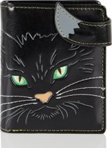 SHAGWEAR portemonnee Cat's face green eyes - 0553sm