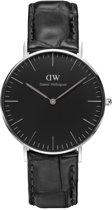 Daniel Wellington Classic Black Reading DW00100147 - Horloge - Leer - Zwart - Ø 36mm