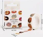2x 7 meter leuke donut plakband | washi tape