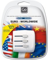 Go Travel reisstekker - adapter eu worldwide - wit