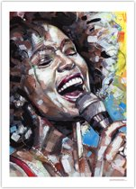 Whitney Houston art print (50x70cm)