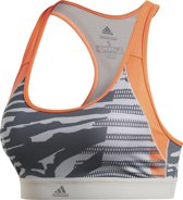 adidas DRST AI Q3 BRA Dames Sportbeha - Mgh Solid Grey/Print - Maat XS