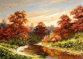 Papermoon Autumn Landscape Vlies Fotobehang 250x186cm 5-Banen