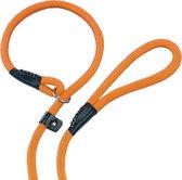 Nobby fun retriever lijn lijn en halsband in 1 oranje 0,9 x 170 cm - 1 st