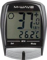 M-wave M16 - Fietscomputer - Bedraad - 16 Functies - Zwart