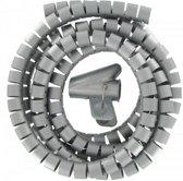 KOPP kabelgeleider, Ø 20mm x 2.5 meter, grijs | geen losse kabels meer!!