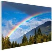 Kleurrijke regenboog over de lucht Glas 180x120 cm - Foto print op Glas (Plexiglas wanddecoratie) XXL / Groot formaat!