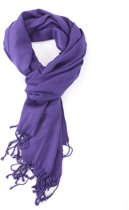 Paarse dunne viscose sjaal - Stijlvolle shawl voor buiten en binnen