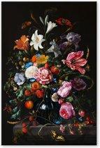 Vaas met Bloemen - Jan Davidsz de Heem - Schilderij op Canvas