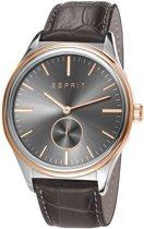 Esprit - Barton Herenhorloge - Leren band - Bruin (ES108011002)