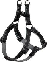 Nobby Tuig Classic Reflect - Hond - Tuig - Buikband: 30 tot 40 cm - Zwart
