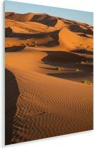 Marokkaanse zandduinen van de Erg Chebbi dichtbij Merzouga Plexiglas 80x120 cm - Foto print op Glas (Plexiglas wanddecoratie)