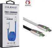 Olesit Gecertificeerde TPE MICRO-USB Kabel 1 Meter Fast Charge 3.0A High Speed Laadsnoer Oplaadkabel - Veillig laden -