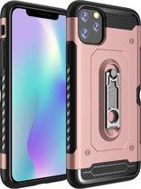Mobigear Shockproof Stand Hoesje Rose Goud Apple iPhone 11