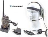 Midland G10 camouflage PMR446 portofoon incl. BOW-M EVO headset