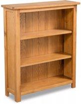vidaxl boekenkast met 3 planken eikenhout 70x225x82 cm