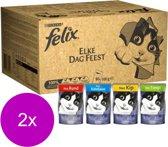 Felix Multipack Pouch Elke Dag Feest - Kattenvoer - 2 x 80x100 g
