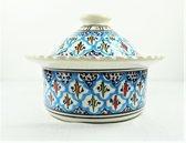 Handgemaakte en handbeschilderde authentieke Marokkaanse  multifunctionele (stoof)potje of cocotte