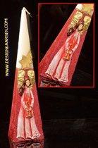 Engeltjes piramide kaars DONKERROOD, H: 30 cm