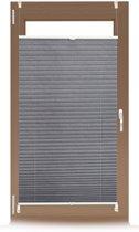 relaxdays plissegordijn - plissé jaloezie grijs - zonder boren - opvouwbaar - vers. maten 90x210cm