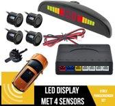 Parkeersensoren Set Met Geluid EN Display   Parkeerhulp   Uiteruitrij Sensoren   4 Sensoren   Geluids & Visuele Waarschuwing   Plug & Play   Inclusief Boor   ZWART