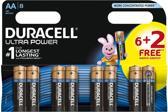Duracell AA Ultra Power Alkaline Batterijen | 8
