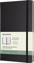 Moleskine 12 Maanden Agenda 2020 - Wekelijks - Large (13x21 cm) - Zwart - Harde Kaft