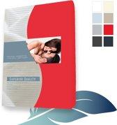 24-Bedding Jersey Elastaan - Mako - Hoeslaken 90x200 cm Rood