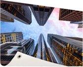 Zonsopgang in Chicago Tuinposter 200x100 cm - Tuindoek / Buitencanvas / Schilderijen voor buiten (tuin decoratie) XXL / Groot formaat!