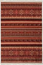Vintage Stripe Print Vloerkleed met Antislip zijde - 120X180 cm - Rood / Multikleur