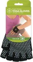 Gaiam, Antislip Handschoenen - One Size (Zwart)