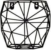TAK Design Thanwa Mand S - Wandbevestiging - Metaaldraad - 15 x 9,8 x 13 cm - Zwart