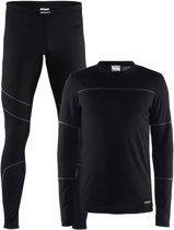 Craft Baselayer Set Thermoset Heren - Black/Granite - Maat M