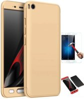 Teleplus Xiaomi Mi 5 S 360 Full Protected Cover Gold + Glass Screen Protector