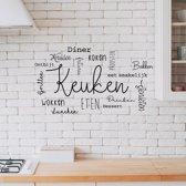 Keuken Muursticker Met keuken teksten - Zwart