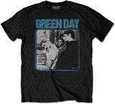 Green Day Heren Tshirt -M- Photo Block Zwart