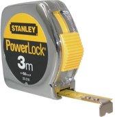 Stanley Rolbandmaat Powerlock 3m - 12.7mm metaal