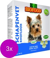 Biofood Mini Schapenvetbonbons met Knoflook - Hond - Voedingssupplement -  3 x 80 bonbons