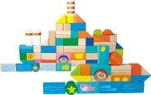 Houten blokken - onderwater wereld - 100 stuks - Speelgoed vanaf 1 jaar