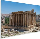 Tempel in het hartje van Baalbek Plexiglas 180x120 cm - Foto print op Glas (Plexiglas wanddecoratie) XXL / Groot formaat!